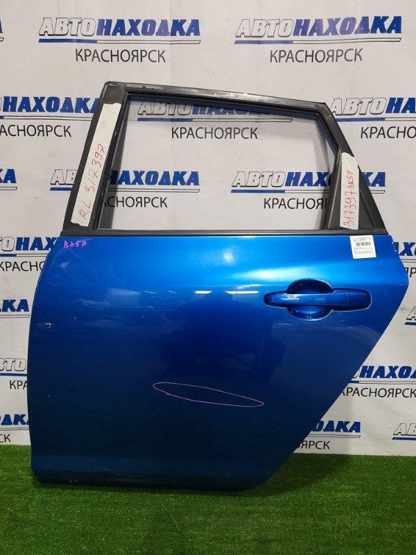 Дверь Mazda Axela BK5P ZY-VE 2003 задняя левая Задняя левая, в сборе, цвет 27B, хэтчбек. Есть вмятина