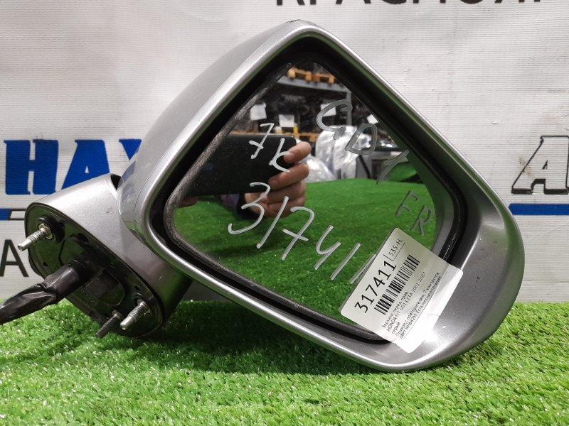 Зеркало Honda Fit GD1 L13A 2001 переднее правое Правое,с повторителем, 7 контактов, цвет NH642M. Есть