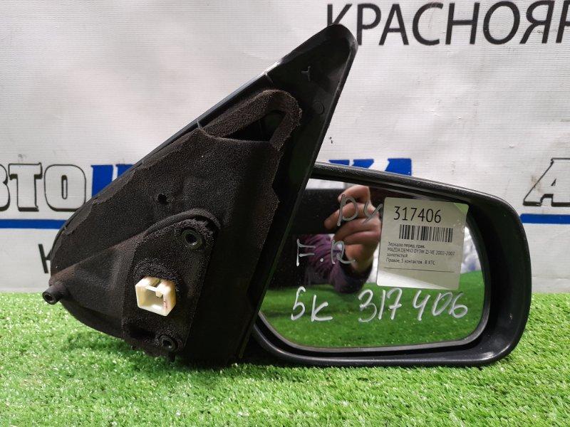Зеркало Mazda Demio DY3W ZJ-VE 2002 переднее правое Правое, 5 контактов . В ХТС
