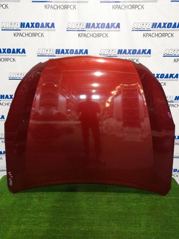 Капот Subaru Legacy BR9 EJ25 2009 цвет 69Z. Есть мелкая вмятинка.