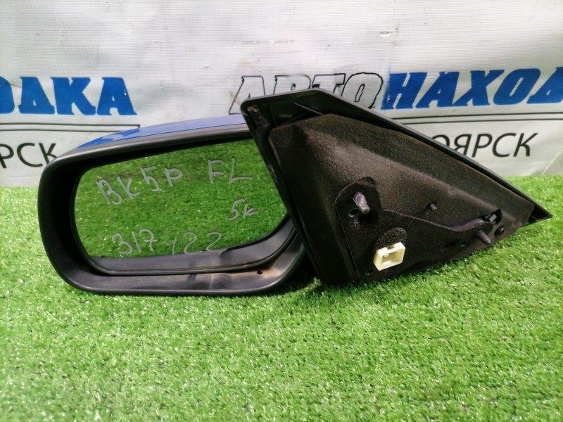 Зеркало Mazda Axela BK5P ZY-VE 2003 переднее левое Левое, цвет 27B, 5 контактов. Есть следы подкраса.