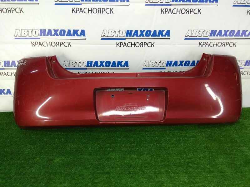 Бампер Suzuki Mr Wagon MF21S K6A 2001 задний задний, бордовый, под покраску