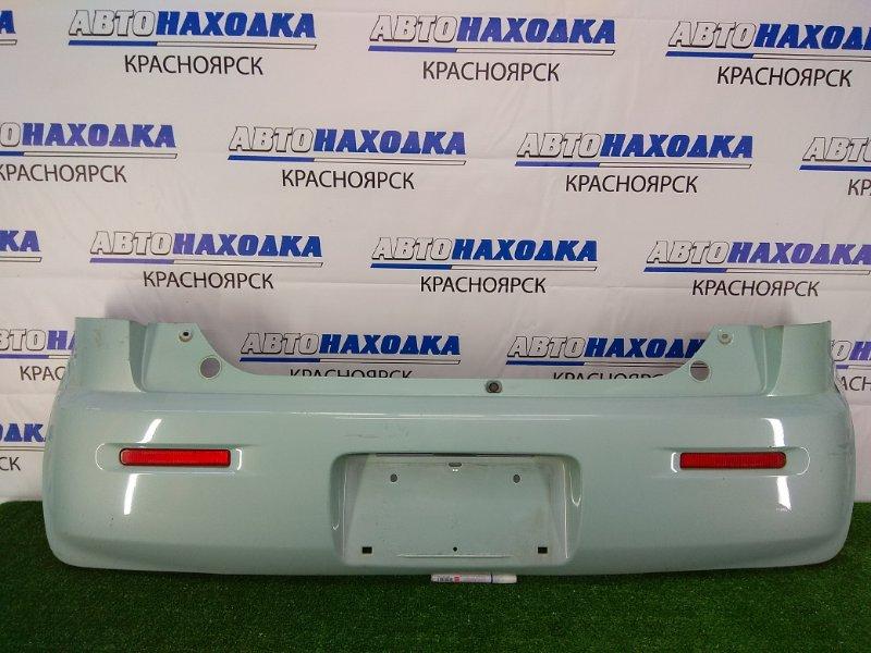 Бампер Nissan Moco MG33S R06A 2011 задний задний, голубой (ZKT), с катафотами, царапинки,