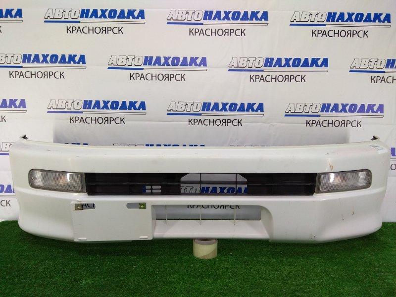 Бампер Daihatsu Hijet S200P EF-SE 1999 передний R9613 передний, белый, бортовой грузовой, 9 поколение 1