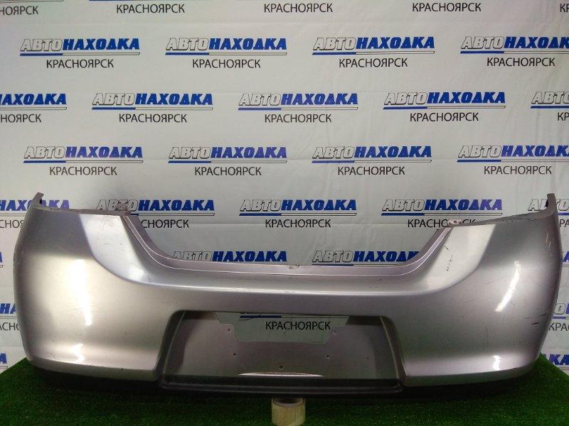 Бампер Nissan Tiida C11 HR15DE 2008 задний задний, серый с розовым оттенком, хэтчбек, 2 модель