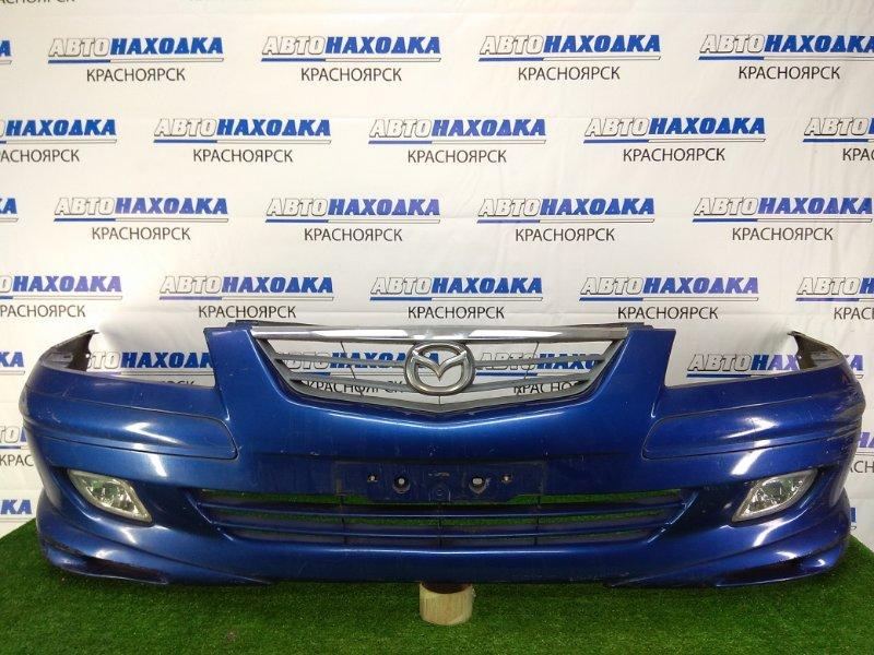 Бампер Mazda Capella GWEW FS-ZE 1999 передний передний, синий, 2 модель рестайлинг, с туманками