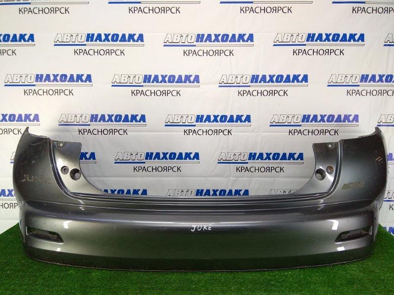 Бампер Nissan Juke YF15 2010-2014 HR15DE задний Задний, дорестайлинг, серый, без катафот,