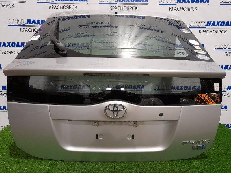 Дверь задняя Toyota Prius NHW20 1NZ-FXE 2005 В сборе. Цвет 1F7, под метлу, с камерой З/Х, в ХТС.