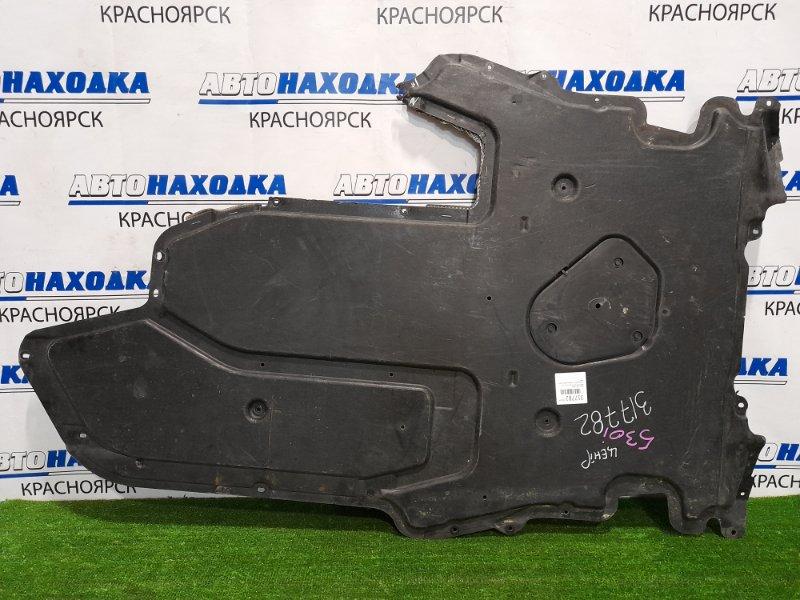 Защита двс Bmw 530I E60 N52B30 2003 передняя центральная, сплошная, дефект одного ушка