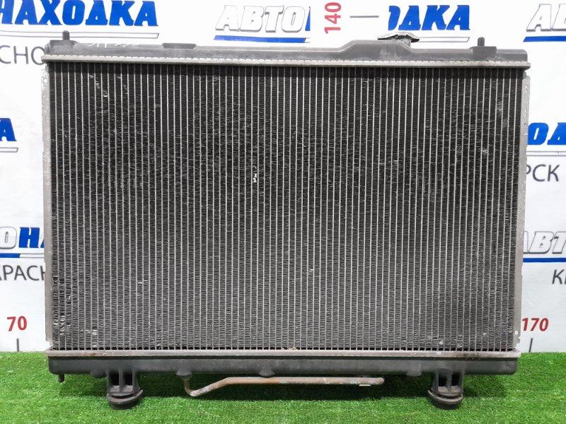 Радиатор двигателя Toyota Gaia ACM10G 1AZ-FSE 2001 7A26 В сборе с диффузорами и вентиляторами. Под