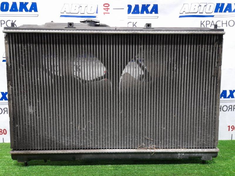 Радиатор двигателя Mitsubishi Diamante F34A 6A13 1997 под АКПП, с диффузорами и вентиляторами,