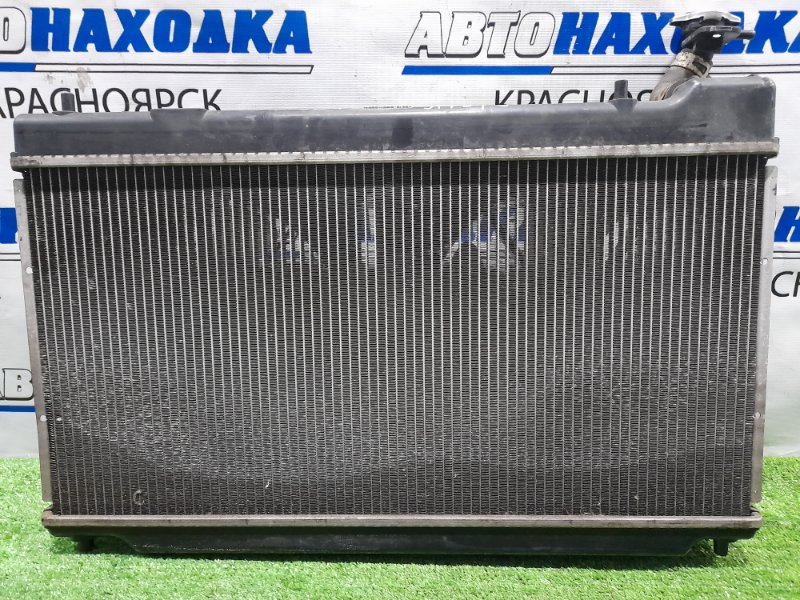 Радиатор двигателя Honda Fit GD1 L13A 2001 в сборе, 2 модель (широкий), 2 диффузора, 2