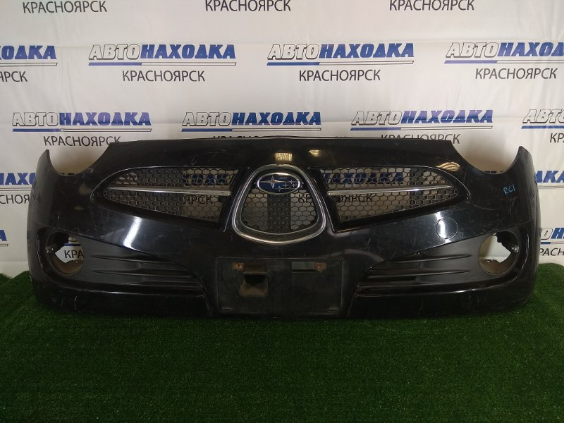 Бампер Subaru R2 RC1 EN07 2003 передний передний, черный, 1 модель ( дорестайлинг), без заглушек,