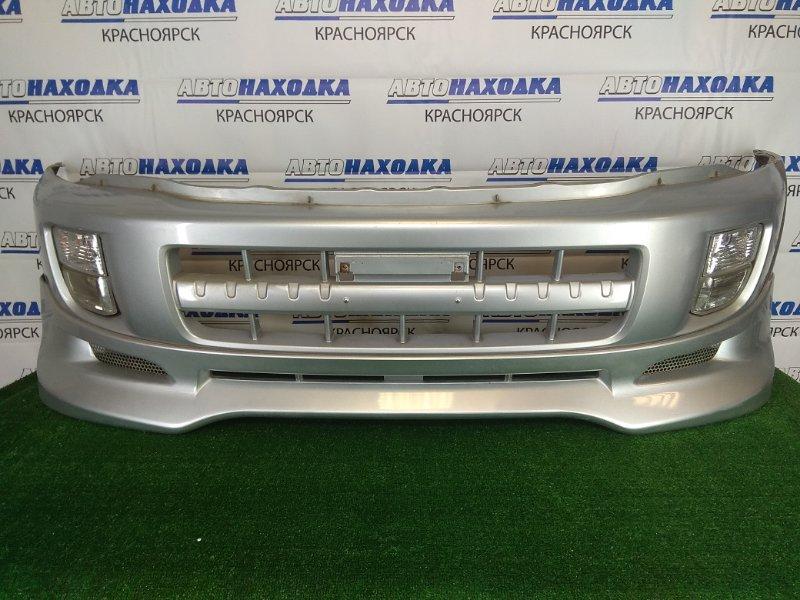 Бампер Toyota Rav4 ACA21W 1AZ-FSE 2000 передний передний, серебристый (1D4), 1 модель (дорестайлинг), с