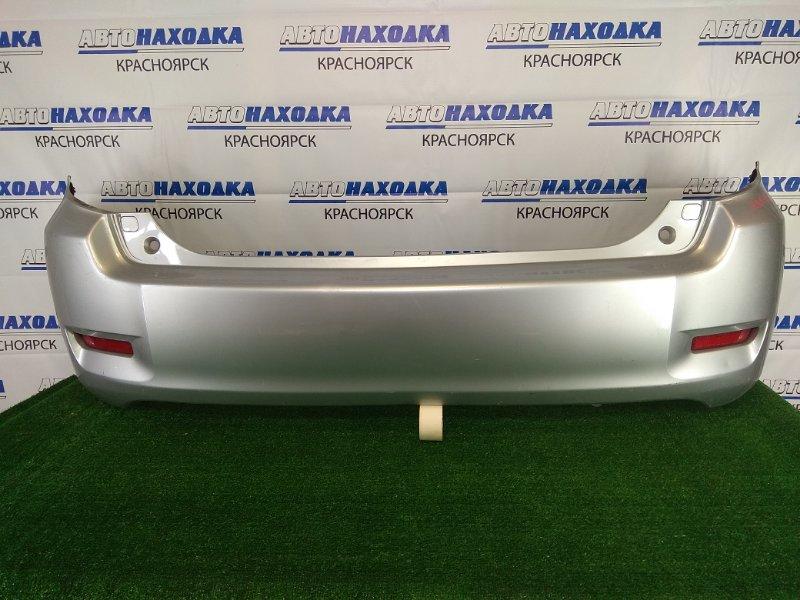 Бампер Toyota Corolla Rumion ZRE152N 2ZR-FE 2007 задний задний, серебристый( 1F7), с катафотами (7403),