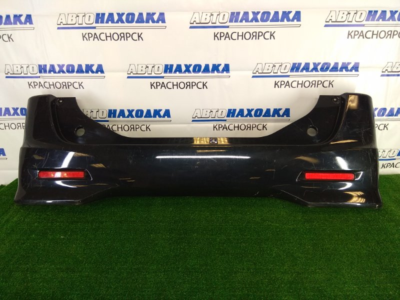 Бампер Nissan Roox ML21S K6A 2009 задний задний, черный, комплектация HIGHWAY STAR, с катафотами,