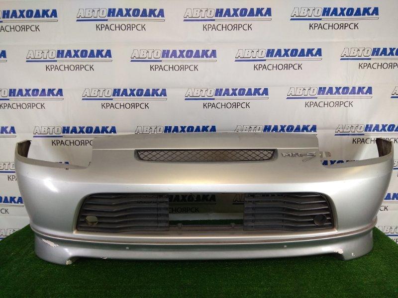 Бампер Toyota Mr-S ZZW30 1ZZ-FE 1999 задний 52159-17100 задний, серебристый, 1 модель (дорестайлинг), с