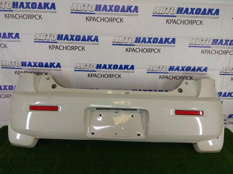 Бампер Suzuki Mr Wagon MF33S R06A 2011 задний задний, белый перламутр (Z7T), с брызговиками, с