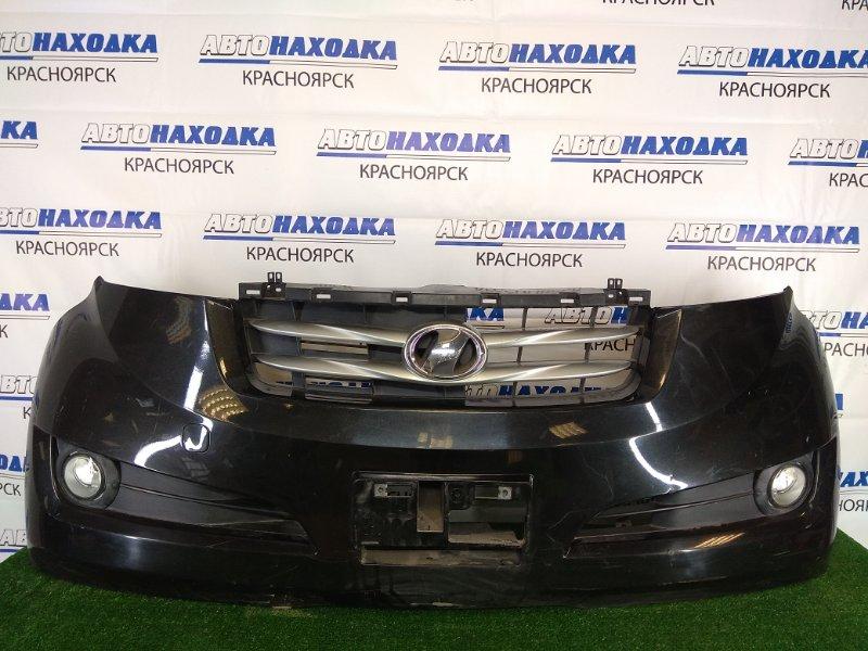 Бампер Toyota Bb QNC20 K3-VE 2005 передний передний, черный (X07), с туманками (04709), комплектации AERO,