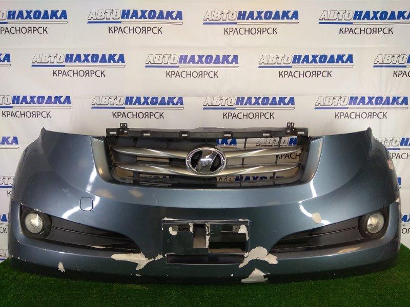 Бампер Toyota Bb QNC21 3SZ-VE 2005 передний передний, серый, с туманками (04709), комплектации AERO, X