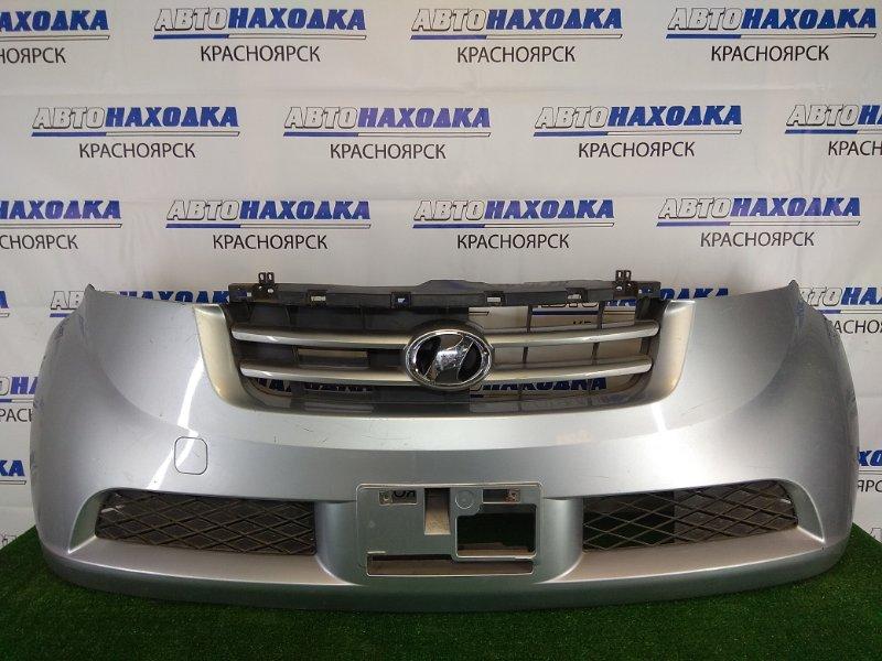 Бампер Toyota Bb QNC20 K3-VE 2005 передний передний, серебристый, 1 модель (дорестайлинг),