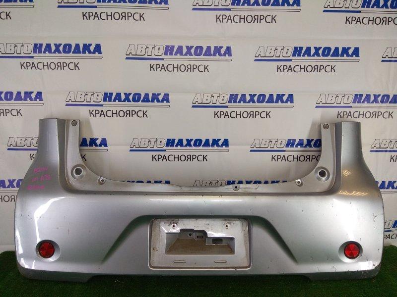 Бампер Nissan Dayz B21W 3B20 2013 задний задний, серебристый, с катафотами (13-05107), надрыв снизу