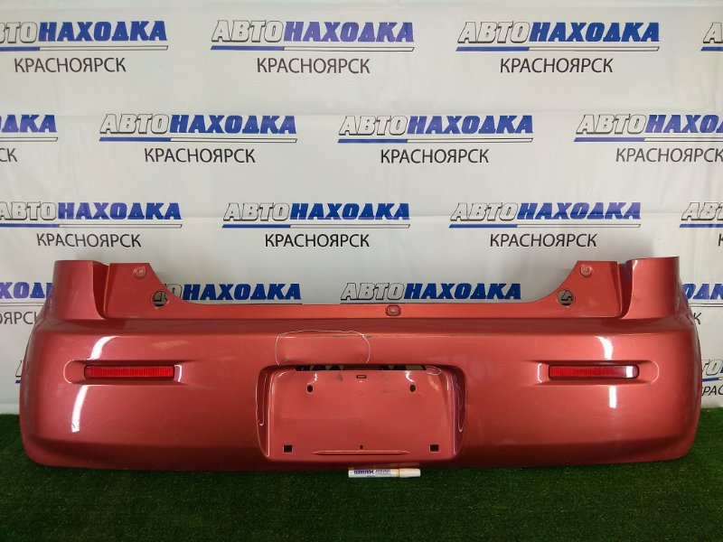 Бампер Nissan Moco MG33S R06A 2011 задний задний, красный (ZSU), с катафотами (0212369), вмятина над
