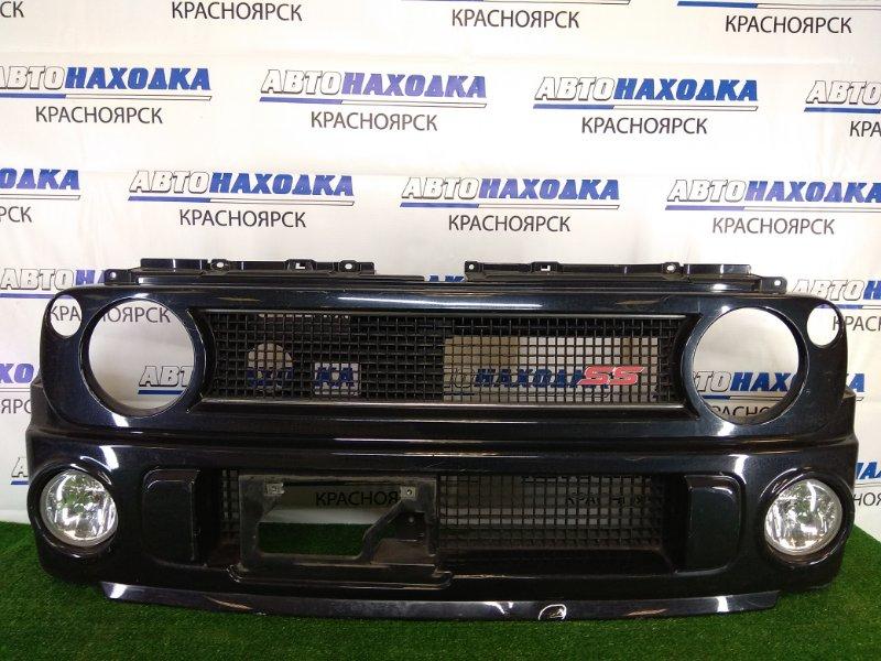 Бампер Suzuki Alto Lapin HE21S K6A 2002 передний передний, черный, комплектация SS, с туманками (P4243),