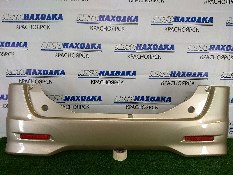 Бампер Suzuki Palette MK21S K6A 2008 задний задний, золотистый, комплектация SW, с катафотами