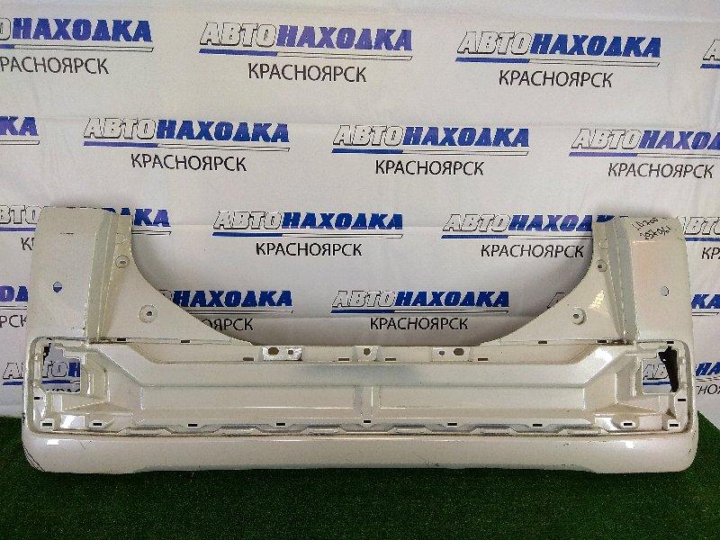 Бампер Daihatsu Wake LA700S KF 2014 задний задний, белый перламутр, без накладки и фонарей,