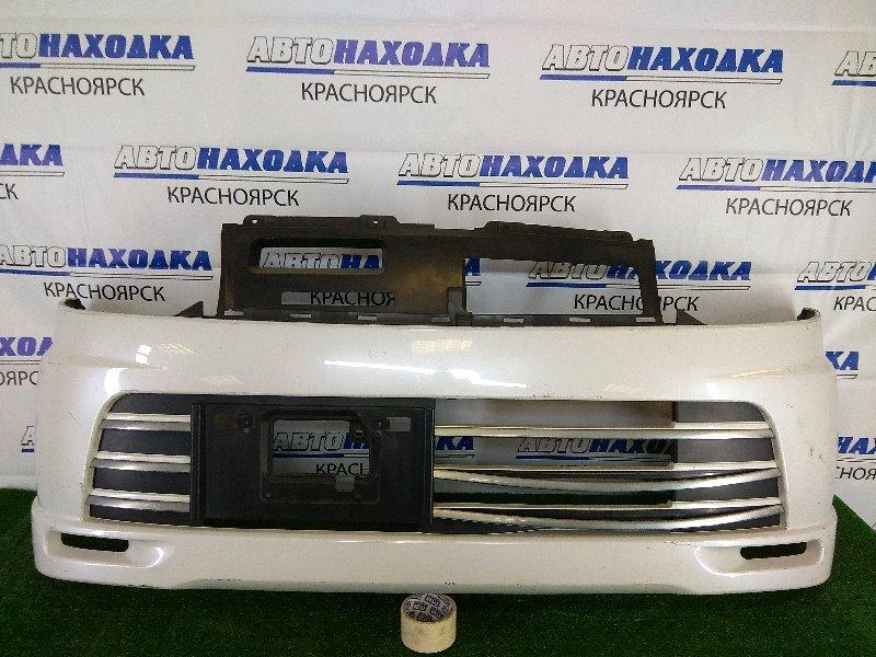 Бампер Nissan Otti H92W 3G83 2006 передний передний, белый перламутр, комплектация RIDER,