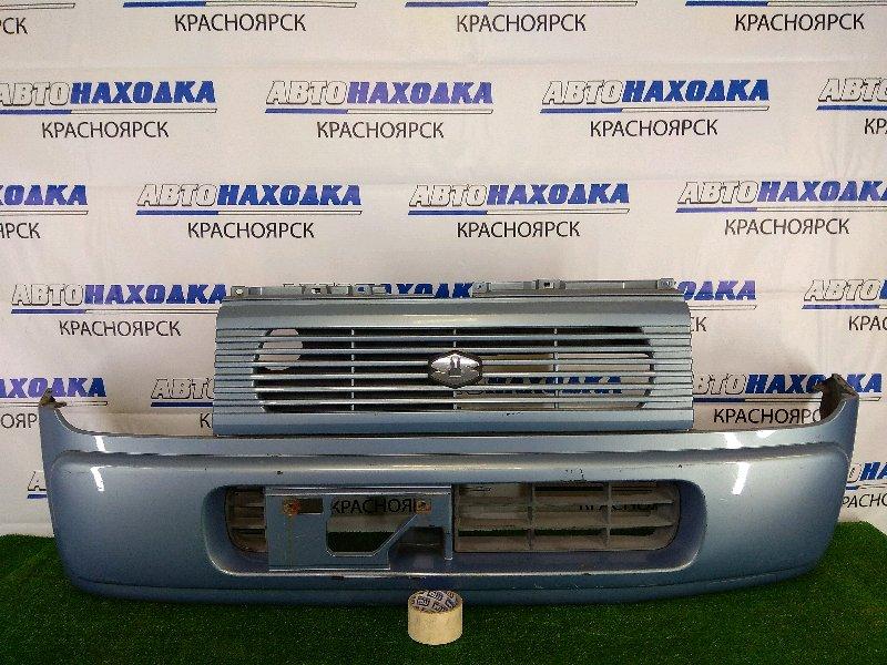 Бампер Suzuki Alto Lapin HE21S K6A 2002 передний передний, синий, с решеткой, царапины, потертости