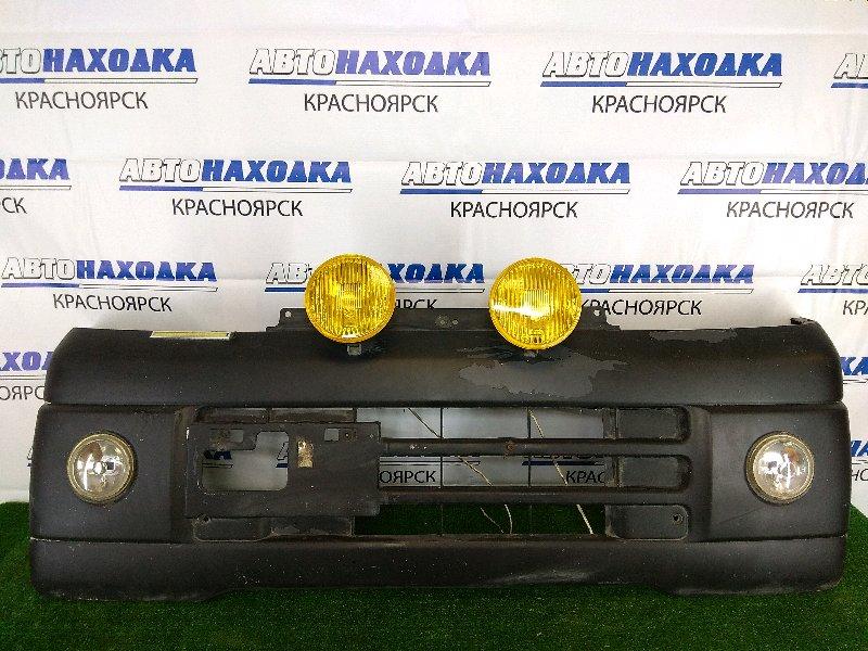 Бампер Nissan Clipper U71W 3G83 2007 передний передний, черный, белые туманки не штатные, вклеяны