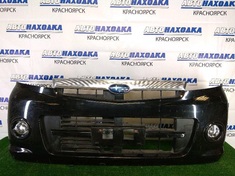 Бампер Subaru Stella RN1 EN07 2006 передний передний, черный, с туманками (1773), царапины, под