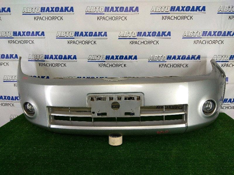 Бампер Nissan Lafesta B30 MR20DE 2004 передний передний, серебристый, 1 модель (дорестайлинг), с
