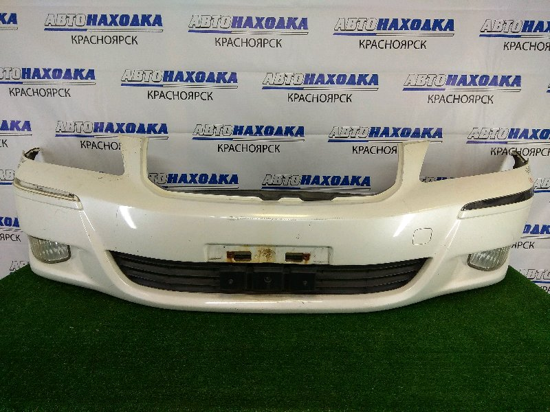 Бампер Toyota Crown Majesta UZS186 3UZ-FE 2006 передний передний, белый перламутр (062), 2 модель