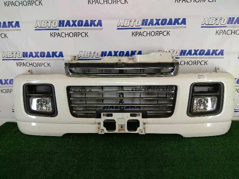 Бампер Suzuki Every DA62W K6A 1999 передний передний, белый, с туманками (114-32673), потертости,