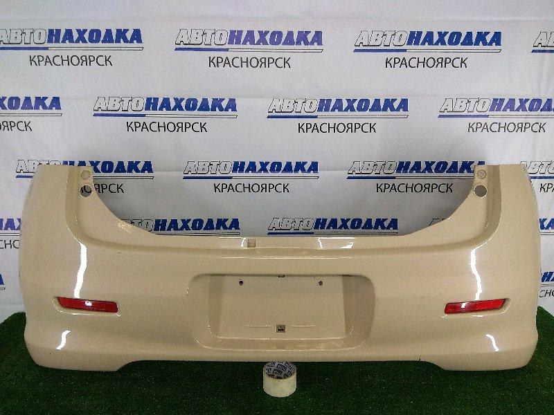 Бампер Suzuki Mr Wagon MF22S K6A 2006 задний задний, бежевый, с катафотами (RR050), ЛКП в целом ХТС,