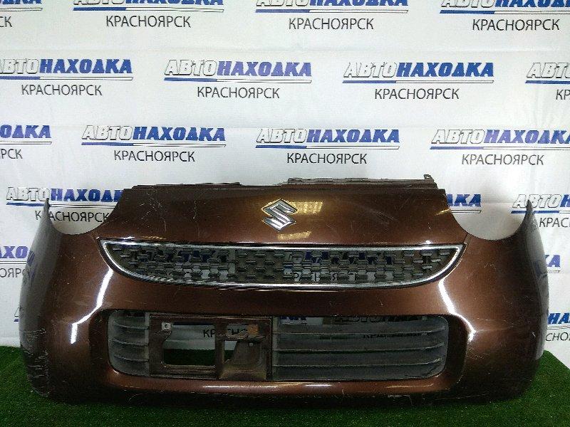 Бампер Suzuki Mr Wagon MF22S K6A 2006 передний передний, коричневый, 1 модель (дорестайлинг), с