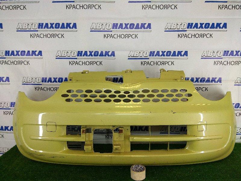 Бампер Daihatsu Move Latte L550S EF-VE 2004 передний передний, желтый, царапины, потертости до