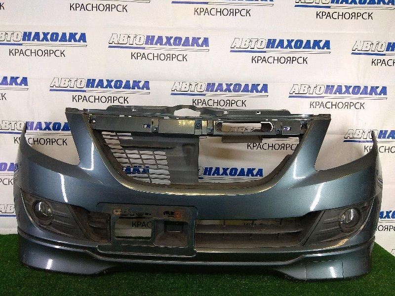 Бампер Suzuki Cervo HG21S K6A 2006 передний передний, серый, с накладкой, с туманками (22704 ),