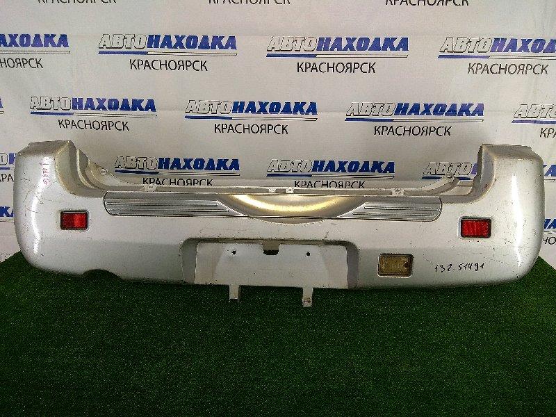 Бампер Daihatsu Terios Kid J111G EF-DEM 1998 задний задний, серебристый, 1 и 2 модель (98-06г.) с