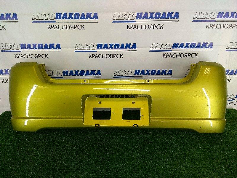 Бампер Subaru Pleo RV1 EN07 1998 задний задний, зеленый, 1 и 2 модель (98-02г.), потертости,