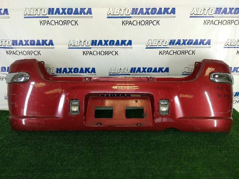 Бампер Subaru Pleo RA2 EN07 1998 задний 3019 задний, красный, 1 и 2 модель, комплектация NESTA,