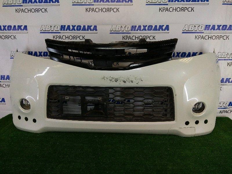Бампер Nissan Roox ML21S K6A 2009 передний передний, белый перламутр, комплектация Highway Star, с