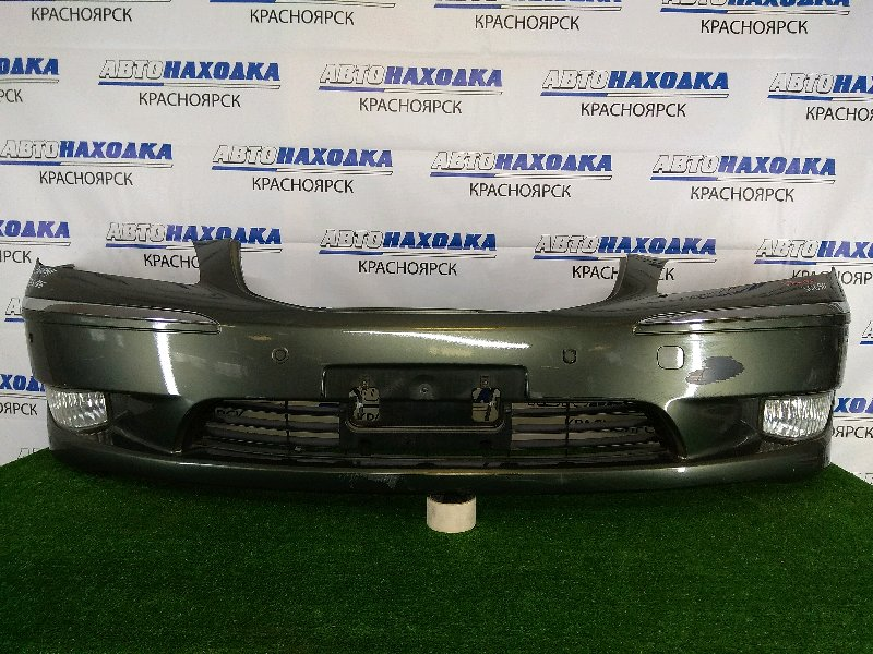 Бампер Toyota Crown Majesta UZS186 3UZ-FE 2004 передний передний, зеленый, 1 модель (дорестайлинг),