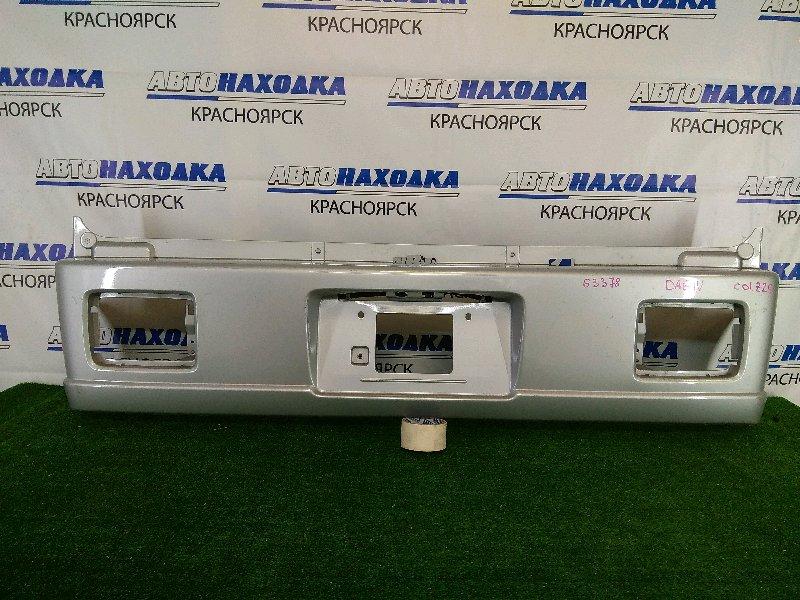 Бампер Suzuki Every DA64V K6A 2005 задний задний, серебристый, под фонари, незначительные
