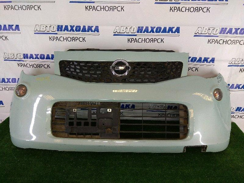 Бампер Nissan Moco MG33S R06A 2011 передний передний, 3 поколение, голубой (ZKT), с повторителями