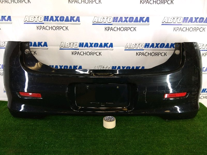 Бампер Suzuki Mr Wagon MF22S K6A 2006 задний задний, черный, с катафотами (RR050), царапинки,