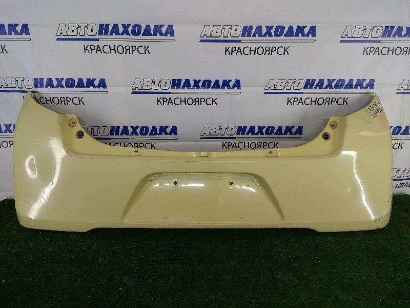 Бампер Daihatsu Mira E:s LA300S KF 2011 задний задний, желтый, вмятинки, под под покраску